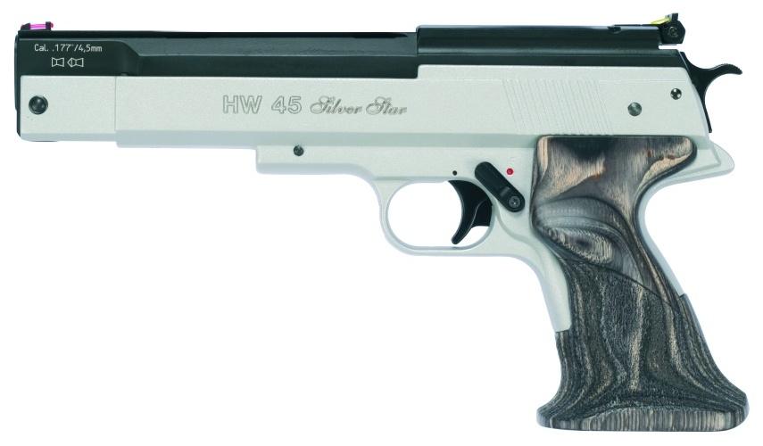 Пневматический пистолет Weihrauch HW 45 Silver Star